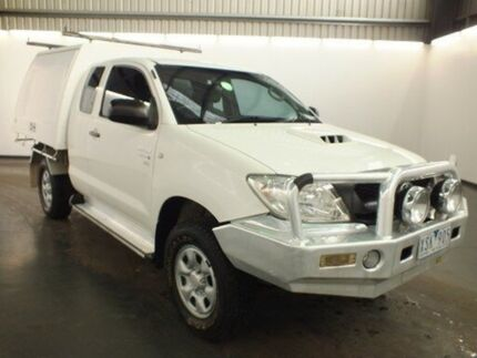 2010 Toyota Hilux KUN26R MY11 Upgrade SR (4x4) Glacier White 5 Speed Manual Cab Chassis Albion Brimbank Area Preview