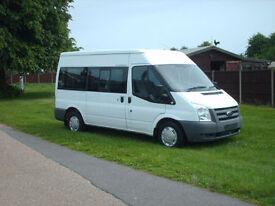 Ford Transit 115 6 speed 12 seat minibus low miles