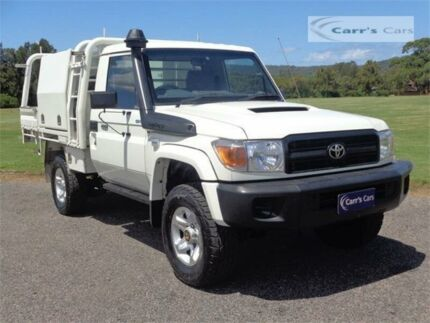 2014 Toyota Landcruiser VDJ79R MY13 GX White Manual Cab Chassis Erina Gosford Area Preview