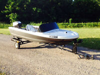 Fibreglass runabout boat for sale
