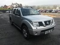 breaking silver nissan navara D40 manual 4x4 double cab parts spares