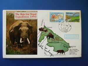 1993-RAJA-BAJ-NEPAL-EXPEDITION-COVER-SIGNED-BY-BELLA-EMBERG-RUSS-ABBOT-SHOW