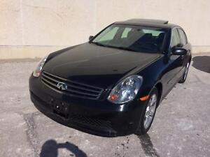2005 INFINITI G35X AWD  LOW KMS, LOADED, BLACK ON BLACK LEATHER!