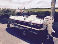 Salcombe Flyer 440 Sport + 60hp Evinrude E-Tec Outboard