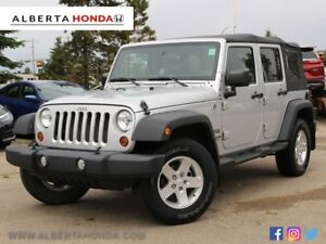 2012 Jeep Wrangler Unlimited Sport Rag Top One Owner Accident Fr