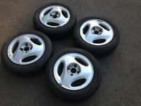 "RONAL 14"" 5.5J 4x100 Classic, alloy wheels, nice original wheels with good tyres, not borbet bbs"