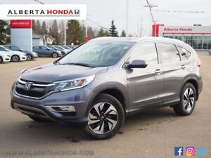 2016 Honda CR-V Touring. ECO. Low Kms. One Owner. Heated Leather