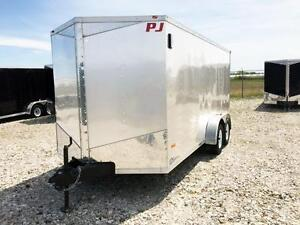 7ft x 16ft Flat Top Wedge, Enclosed Trailer (RWT7x16TA3)