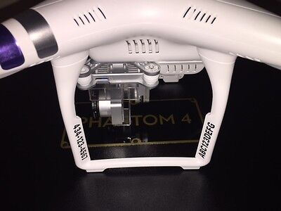 4X Drone Registration Platoon Decals  DJI Phantom 3 Standard  FAA UAS Compliant