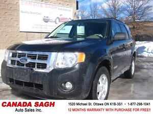 2008 Ford Escape XLT 4CYL EASY ON GAS! 12M.WRTY+SAFETY $5490