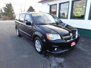2017 Dodge Grand Caravan Crew Plus only $229 bi-weekly all in!
