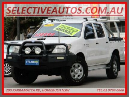 2011 Toyota Hilux KUN26R MY12 SR (4x4) White 4 Speed Automatic Dual Cab Pick-up Homebush Strathfield Area Preview