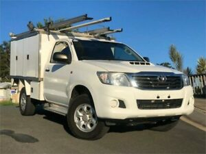 2013 Toyota Hilux KUN26R MY12 SR White 5 Speed Manual Cab Chassis Chevallum Maroochydore Area Preview