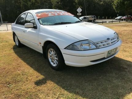 1999 Ford Falcon AU Classic White 4 Speed Automatic Sedan