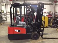 NEW EP CPD18TV ELECTRIC 3-WHEEL FORKLIFT