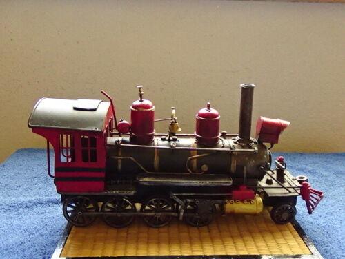 Intricate Hamdmade Decorative Tin Steam Locomotive no hallmarks