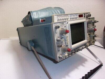 Tektronix 466 Storage Oscilloscope 100mhz 2 Channel Dm44 Digital Multimeter