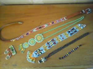 Vintage Native American Beaded Necklaces