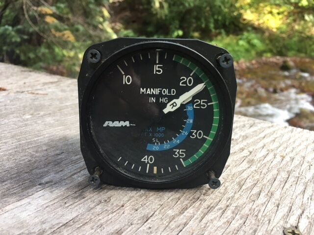 RAM Manifold Pressure Gauge by United Instruments PN 6121 Cessna 421