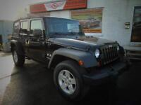 2008 JEEP WRANGLER MANUAL 4 DOORS 4X4 WITH AIR SOFT TOP O DOWN!