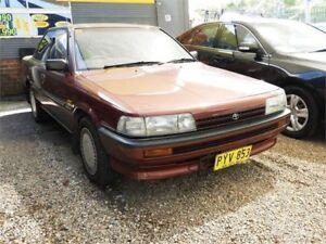 1991 Toyota Camry SV21 CSi Red 4 Speed Automatic Sedan