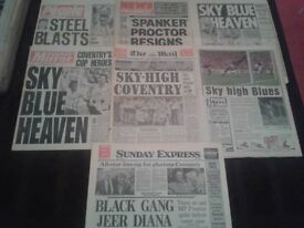 Coventry City Wembley '87 FA Cup Final Newspapers (Monday May 18th)