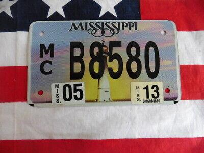US MISSISSIPPI MC B8580 LEUCHTTURM MOTORRAD BIKE KENNZEICHEN NUMMERNSCHILD USA I