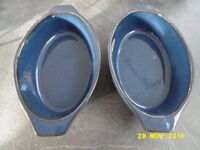 Denby Imperial Blue pair of gratin dishes