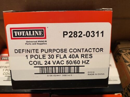 Carrier P282-0311 Contactor 24V, 1 Pole 30 Amp - BUY MORE & SAVE 10% !! (NEW)