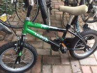 """Raleigh Monster 14"""" Child's bike with stabilisers"""