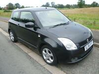2006 Suzuki Swift 1.5 GLX black 99206 miles shrewsbury