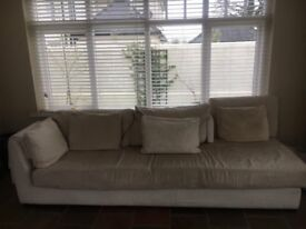 Original Fendi Cream Sofa / Settee