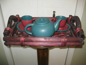 Tea set with serving tray Kitchener / Waterloo Kitchener Area image 1