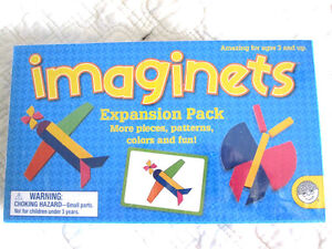 Imaginets Building Blocks, Wooden with Magnets, Expansion Pack
