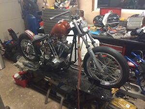 SHOVELHEAD CHOPPER BOBBER PROJECT FOR SALE OR TRADE