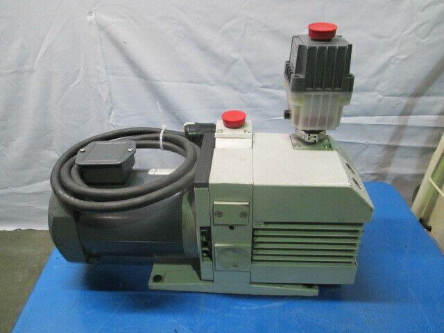Leybold D16B TRIVAC Vacuum Pump w/ BOC Edwards EMF10 Oil Mist Filter, GE, 453520