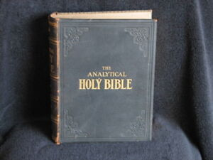 RARE, 1906, The Analytical Holy Bible