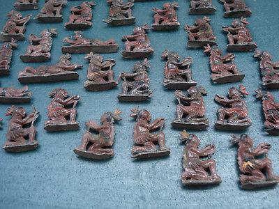 Zinnfiguren Figuren INDIANER sehr antik Sammlung Konvolut