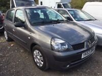 2003 Renault Clio 1.1, Starts and Drives Well, MOT June 2019, Genuine 34,000 Miles, Cheap Insurance