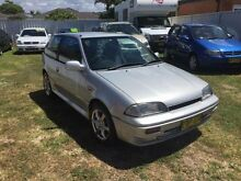 1998 Suzuki Swift Cino Silver 5 Speed Manual Hatchback Belmont Lake Macquarie Area Preview
