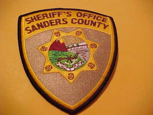 SANDERS COUNTY MONTANA POLICE PATCH SHOULDER SIZE NEW