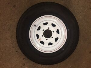 225/75R15 NEW WHITE SPOKE WHEELS & TIRES