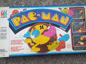 Vintage Pac-Man Board Game + Retro Handheld