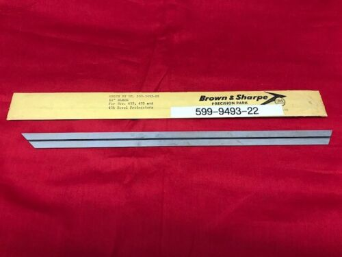 Brown and Sharpe 599-9493-22 Steel Blade for 493,495 & 496 Protractor  VINTAGE!!