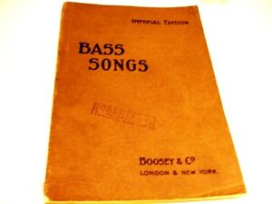c1901 BASS SONGS Imperial Edition BOOSEY & CO bass songs & piano Kitchener / Waterloo Kitchener Area image 4