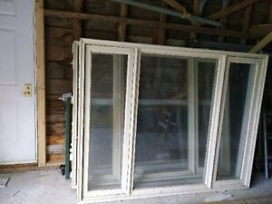 Used Polar Windows and Steel Door Great for A Cabin or Garage.
