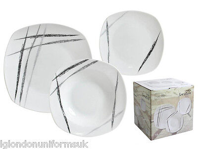 TODAY'S SALE!!!! 18 pcs Decorated Dinner set dinner plates scratch RRP: £45.00