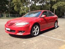 2004 Mazda 6 GG Luxury Sports Red 5 Speed Manual Hatchback Granville Parramatta Area Preview