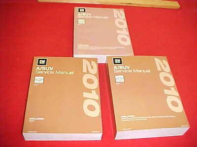 2010 NEW CHEVROLET HHR SERVICE SHOP REPAIR MANUAL SET 3 BOOK VOLUME A / SUV 10
