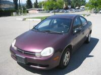 2000 Dodge Neon LOW KM! GREAT ON GAS!
